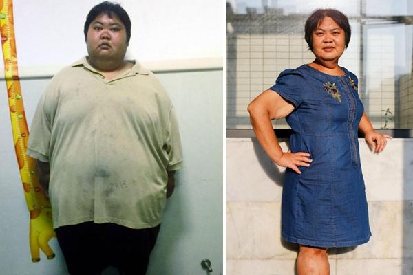广东356斤女子一年减肥220斤