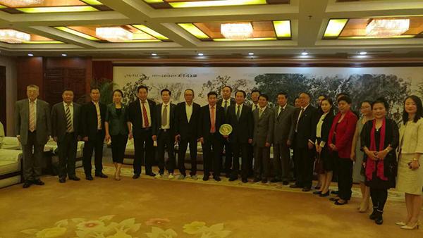全德华人社团联合会代表团拜访中华人民共和国侨务办公室
