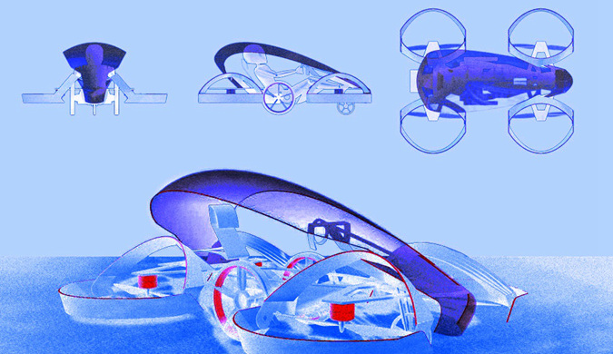 日本研发世界最小飞行汽车 可在公路起降
