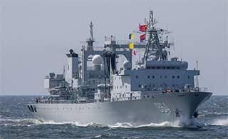 满满羡慕:俄记者镜头里中国军舰