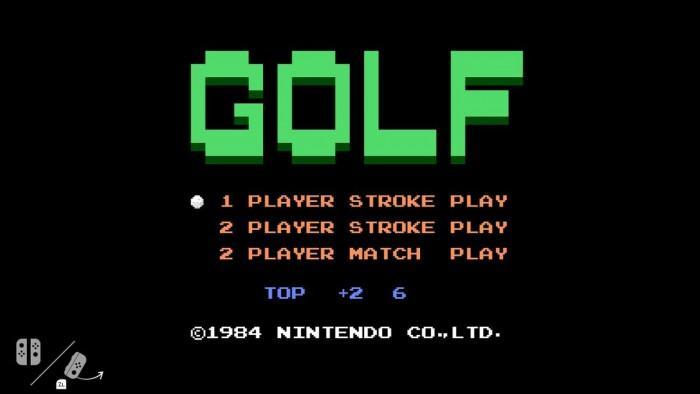 任天堂Switch的秘密 内藏NES高尔夫游戏