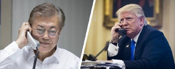 韩媒:特朗普每次打电话 都要文在寅买美最新武器