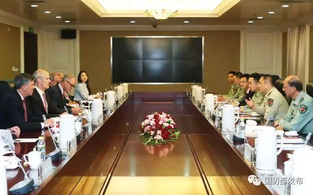 中央军委联合参谋部副参谋长邵元明会见美国国会众议院客人