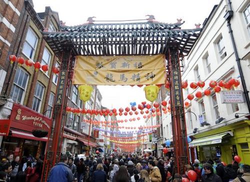 """英媒:中国城之""""魂""""在淡去 伦敦中国城面临转型"""