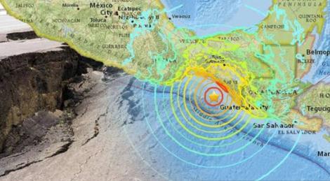 墨西哥沿岸海域再发生4.9级地震 震源深度15公里