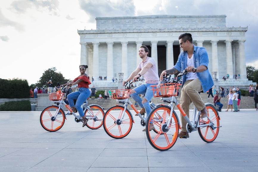 摩拜单车入驻华盛顿特区 未来将进入更多美国城市