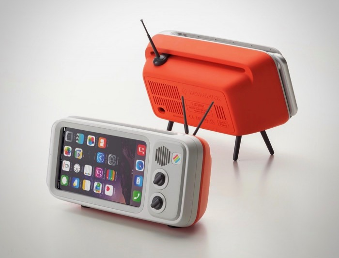 iPhone变老式电视支架