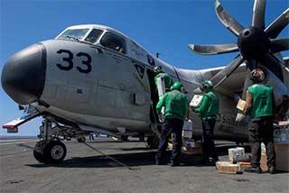 美军航母在菲律宾海起降战机