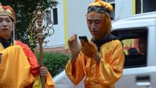 每日一笑:唐僧师徒街头卖饺子皮