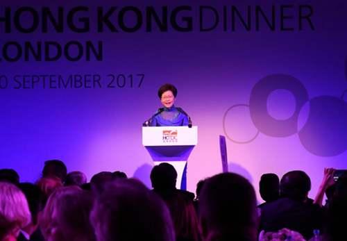 林郑月娥访英 驳斥部分英国人对香港司法指手画脚