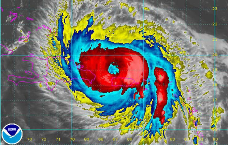"""飓风""""玛丽亚""""气象图"""