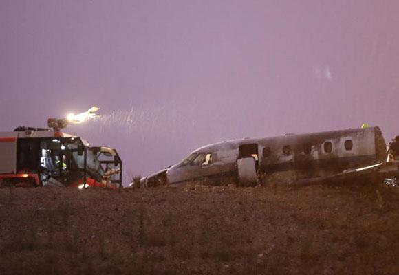 私人飞机迫降伊斯坦布尔机场 致4人受伤