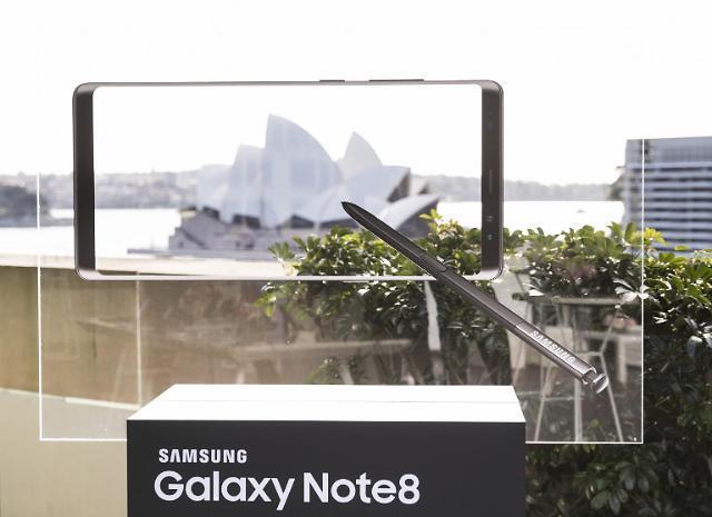 三星Galaxy Note8登陆澳印俄等20多个国家和地区