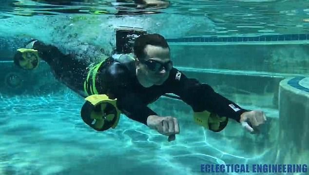 国外达人DIY速度超快的潜水推动器