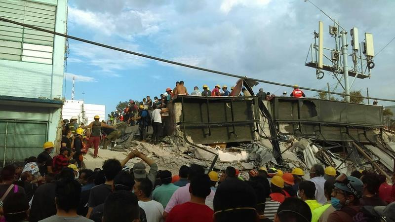 墨西哥7.1级强烈地震 5名失联受困台胞确定全部罹难