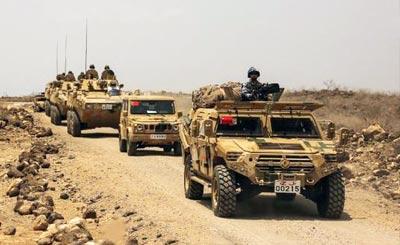 中国驻吉布提保障基地射击训练