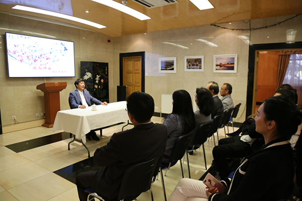 胡乐平教授国画讲座在爱丁堡总领事馆成功举办