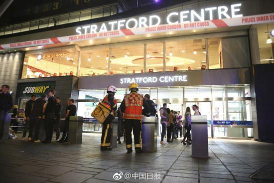 伦敦一购物中心发生有毒物质袭击事件 至少6人受伤