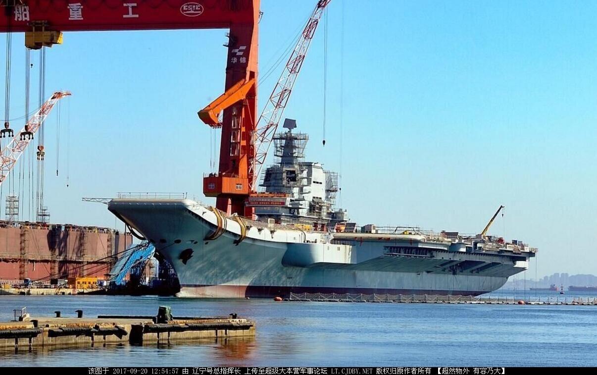 国产航母装雷达引发猜想 被指最快年底进行海试