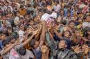 环球图片一周精选 罗兴亚难民争抢食物