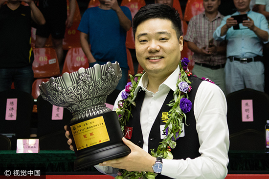 世界公开赛决赛丁俊晖10-3大胜 夺排名赛第13冠