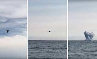 意大利空军台风战机表演时坠毁