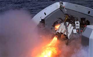 中俄海军日本海演练倾泻火力