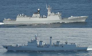 日军舰机跟踪中俄海军联合舰队