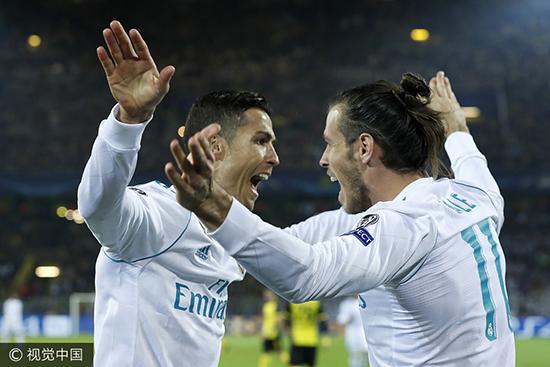 欧冠-C罗梅开二度贝尔传射 皇马客场3-1多特蒙德