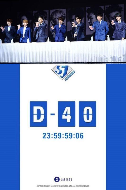 曝Super Junior回归倒计时40天海报 11月重返歌坛