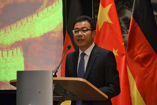 中国驻法兰克福总领馆举行国庆68周年招待会