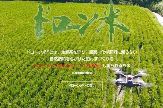 """日本上市不靠农药与化肥的""""无人机大米"""""""