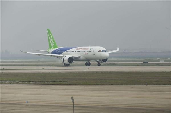 国产大客机C919第二次试飞!