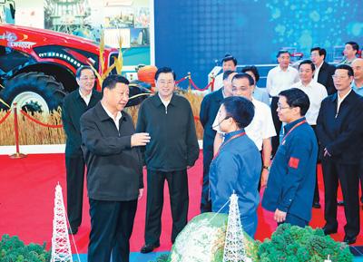 习近平:振奋精神砥砺奋进再接再厉为实现中华民族伟大复兴的中国梦继续奋斗