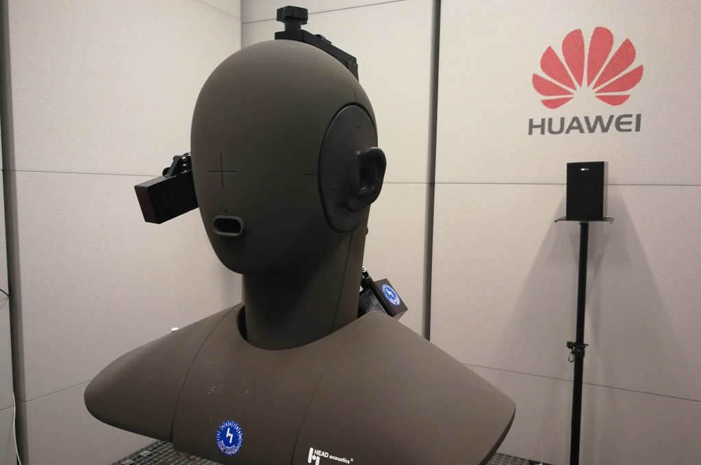 China's Huawei Beijing research and development facilities, mobile audio, and acceptance testing