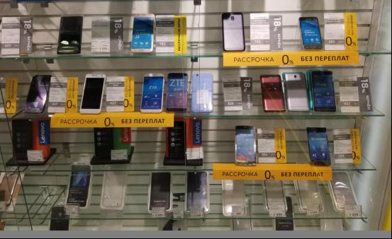 中国手机厂商在俄罗斯市占率达27% 中兴位列TOP5