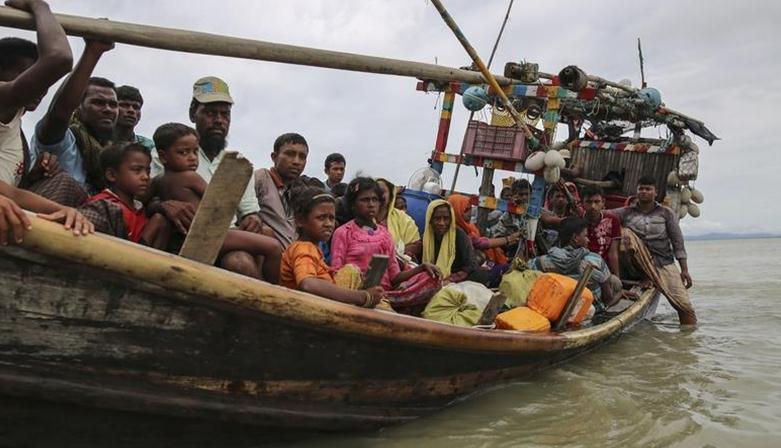 )29日表示,缅甸穆斯林少数民族罗兴亚人搭乘的船只昨天在孟加拉