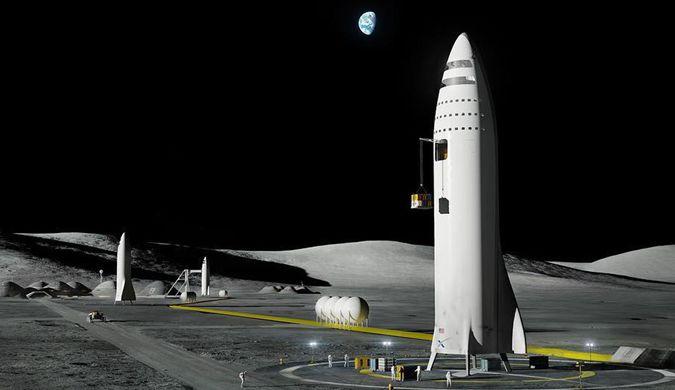马斯克发布SpaceX月球基地和火星城市渲染图