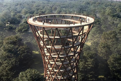 """丹麦森林保护区欲建""""观景长廊"""" 360度览森林美景"""