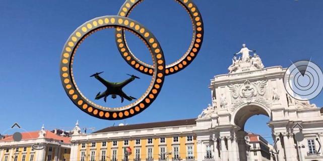 用AR应用体验一下操作虚拟无人机是什么感受?