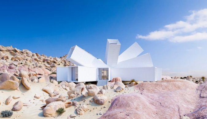 英建筑师将在美加州沙漠打造一辐射状集装箱住宅