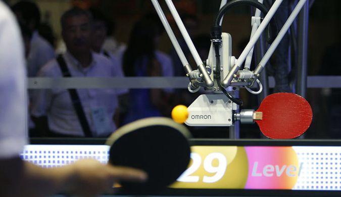 日本研发会打乒乓球的机器人 挑战奥运铜牌得主