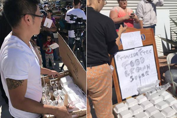 美国赌城枪击案:川菜馆老板免费送200份炒面