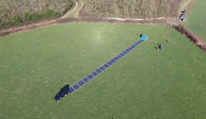 英国小岛测试能像地毯一样展开的太阳能电池板