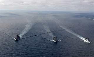 俄罗斯人镜头中的中俄海军联演