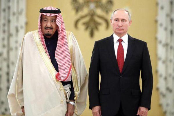 俄罗斯总统普京会见沙特国王萨勒曼