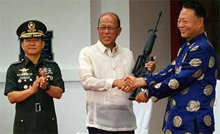 中国这次用什么步枪援助菲律宾