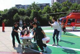 空中120急救骨折老人 120公里车程仅用23分钟