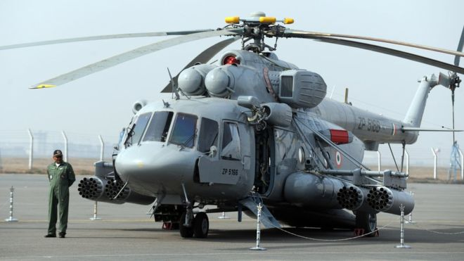 印为哨所送补给米17直升机在藏南坠毁 7人身亡