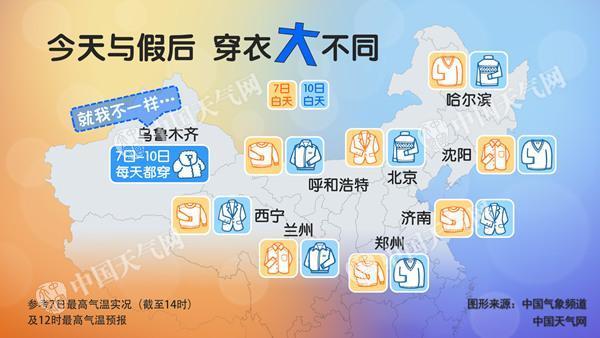中国中东部局地降温超12℃ 北方多地迎强降雨